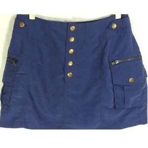 Sexy H&M Divided Mini Shorts Snap Up Front Blue 6